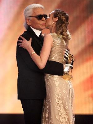 Goldene Kamera 2010, Karl Lagerfeld, Diane Kruger,
