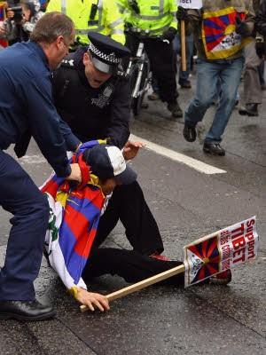 Fackellauf London; AFP
