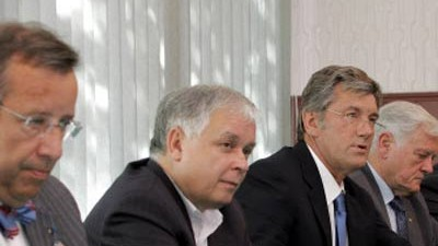 Georgien: Ilves, Kaczynski, Juschtschenko und Adamkus in Simferopol