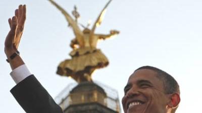 """Obamas Rede im Wortlaut: """"Die Straße vor uns wird lang sein"""", glaubt Obama - doch in seiner Berliner Rede versuchte er an den Optimismus seiner Zuhörer zu appellieren"""