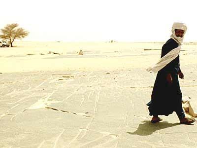 Hoggar, eine Hochebene in Algerien