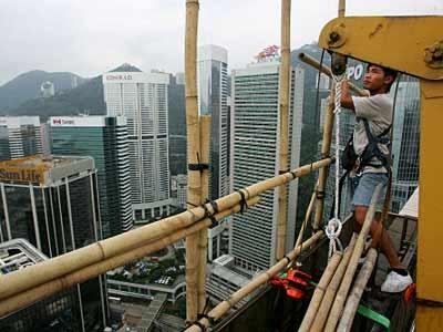 Baugerüst aus Bambus in Hongkong, Reuters