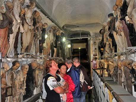 Europa Italien Sizilien Palermo Katakomben Mumien, apn