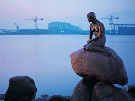 Die kleine Meerjungfrau in Kopenhagen, Dänemark