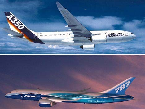 Airbus A350 Boeing 787