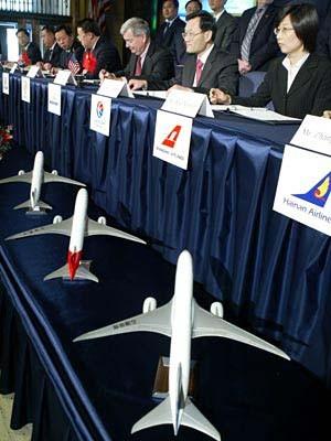 Boeing 787 Dreamliner China chinese Airlines chinesische Fluglinien Vertrag Bestellung Order