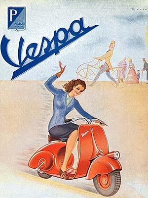 Vespa-Plakat von 1946