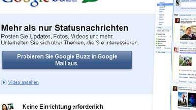 Googles neuer Dienst: Googe Buzz: Zeig mir Deine Follower