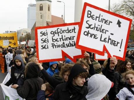 Schülerdemonstration Berlin, ap