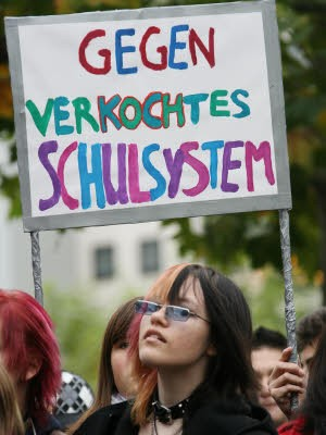 Schülerdemonstration Frankfurt, dpa