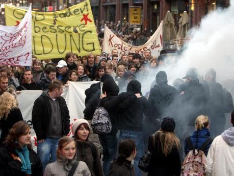 Schülerdemonstration Hamburg, dpa