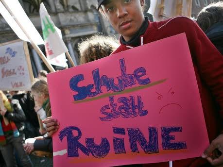 Schülerdemonstration Köln, dpa