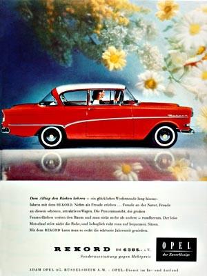 Opel Rekord P1, 1958
