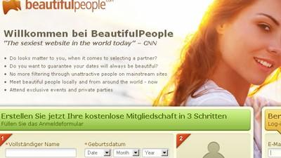 Zu viele Weihnachtspfunde: Kein Platz für Normalsterbliche: Die Online-Partnerbörse beautifulpeople.com
