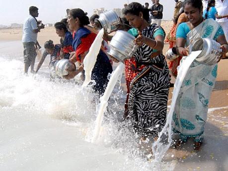 Tsunami-Gedenkfeier, Indien, dpa