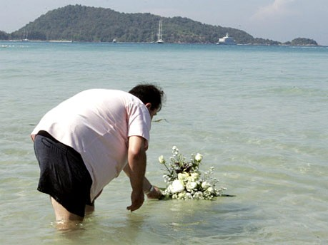Gedenken an Tsunami-Opfer, dpa