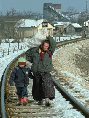 Flüchtlinge aus Srebrenica; AP