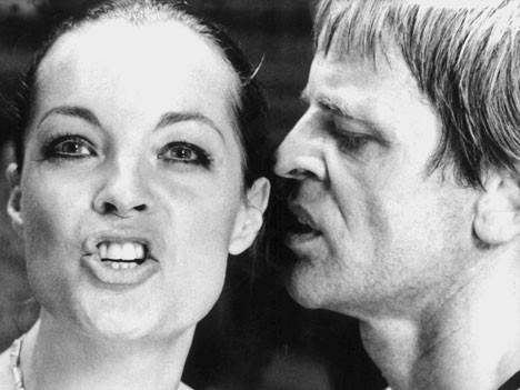 Romy Schneider mit Klaus Kinski in Nachtblende, dpa