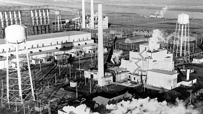 Erster Reaktor der Welt: 1943 wurde der B-Reaktor in Hanford gebaut. Wenig später entstand dieses Foto.