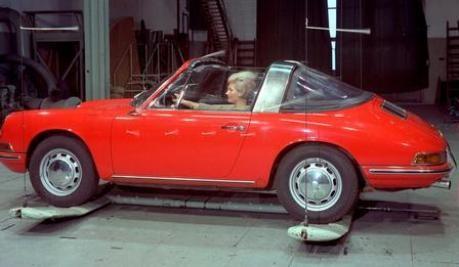 Porsche 911 Targa Windkanal 1965