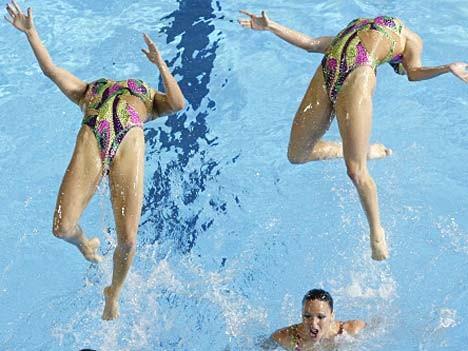 spanischen Synchronschwimmerinnen