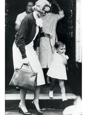 Accessoires der Stars, Grace Kelly, Kelly-Bag; AP