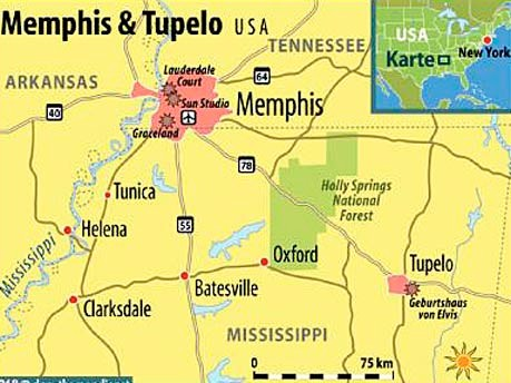 Elvis Presley 75. Geburtstag Tennessee Memphis Tupelo Graceland