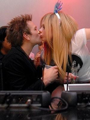 Was sich liebt, das trennt sich; Avril Lavigne, Deryck Whibley; Foto: AP