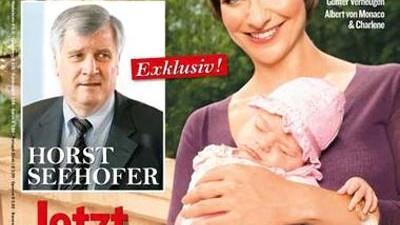 """Affäre Fröhlich/Seehofer: Das Titelbild der """"Bunten"""", aus dem die bunten Blätter heute ausgiebig zitieren."""