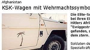 Aufgesprühte Palme auf angeblichem KSK-Jeep