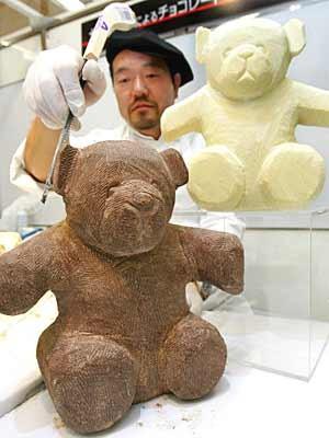 Teddybären aus Schokolade