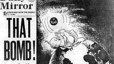 """Karikatur aus dem """"Daily Mirror"""" von 1954"""