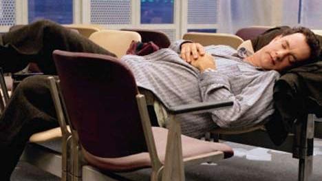 "Film ""Terminal"": Gestrandet am Flughafen: Tom Hanks in ""Terminal""."