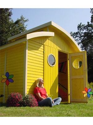 gelbes gartenhaus ; ddp
