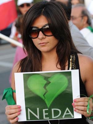 Neda, AFP, Los Angeles, Iran, Proteste, Mussawi, Ahmadinedschad