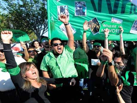 Iran, Demonstranten, Mussawi, Tehran, Kalifornien, Exil-Iraner