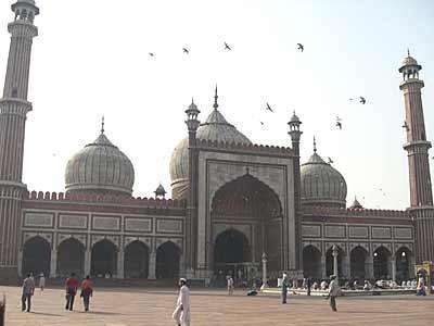 Jamia Masjid-Moschee in Neu Delhi