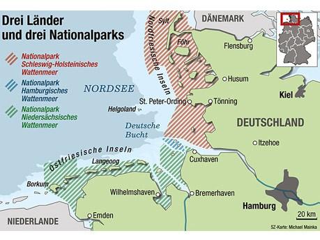 Wattenmeer Unesco Weltnaturerbe, SZ-Grafik: Michael Mainka