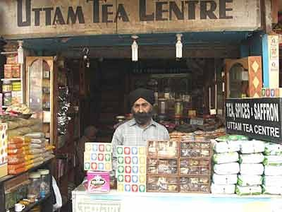 Teeladen in Pahar Ganj, Neu-Delhi
