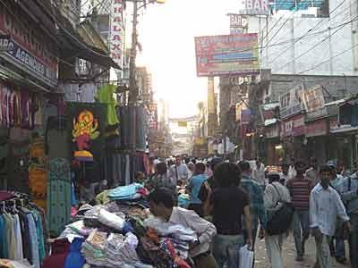 Basarstraße in Pahar Ganj