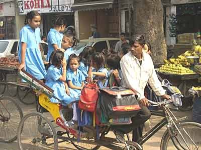 Straße in Neu Delhi