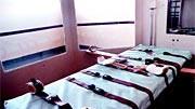 Auf diesem Bett im Nevada State Prison in Carson City werden Verurteilte zum Sterben festgeschnallt