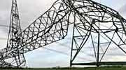 Strommast; Orkan Kyrill; Schäden
