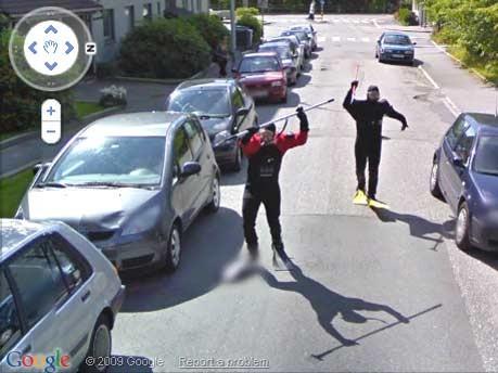 Google Street View Taucher Bergern