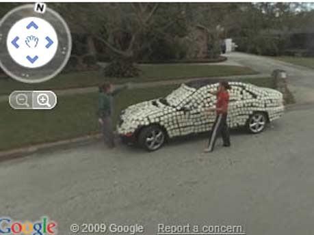 Google Street View Streit Auto