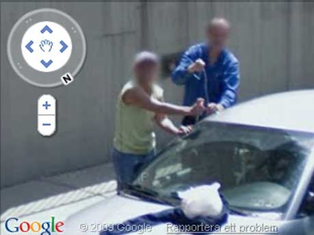 Google Street View Autodiebe Pittsburgh