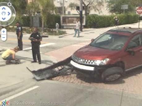 Google Street View Unfall Florida