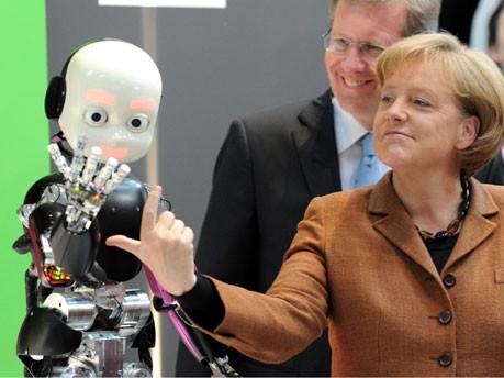 Hannover Messe, Bundeskanzlerin Angela Merkel, Christian Wulff, Foto: dpa