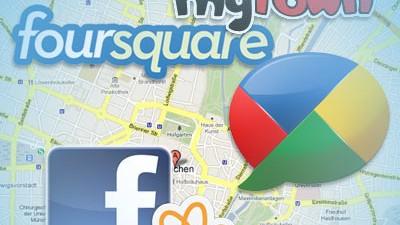 Geolocation Geodaten Facebook Foursquare MyTown Gowalla Google Buzz