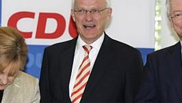Angela Merkel, Jürgen Rüttgers, Roland Koch, dpa